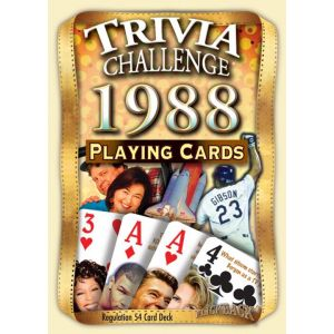 1988 Trivia Challenge Playing Cards: 31st Birthday or Anniversary Gift