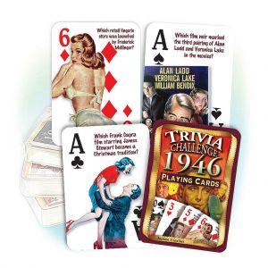 1946 Trivia Challenge Playing Cards: 73rd Birthday or Anniversary Gift