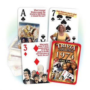 1974 Trivia Challenge Playing Cards: 45th Birthday or Anniversary Gift