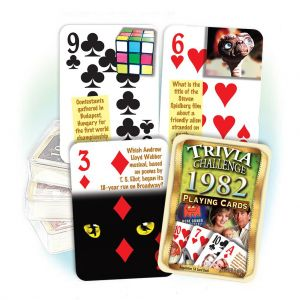 1982 Trivia Challenge Playing Cards: 37th Birthday or Anniversary Gift