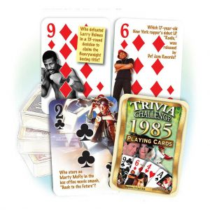 1985 Trivia Challenge Playing Cards: 34th Birthday or Anniversary Gift
