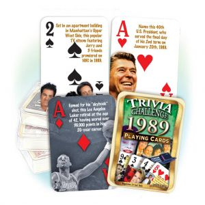 1989 Trivia Challenge Playing Cards: 30th Birthday or Anniversary Gift