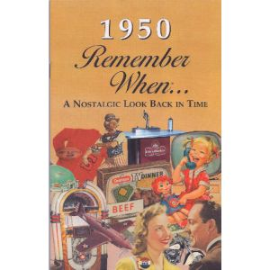 1950 Remember When Booklet