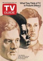 TV Guide, May 4, 1974 - Sam Melville, Georg Stanford Brown and Michael Ontkean of 'The Rookies'