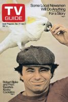 TV Guide, December 27, 1975 - Robert Blake and 'Fred': 'Baretta's Kooky Cockatoo