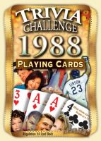 1988 Trivia Challenge Playing Cards: 33st Birthday or Anniversary Gift