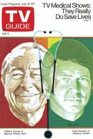 TV Guide, July 21, 1973 - Robert Young & Chad Everett