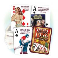 1946 Trivia Challenge Playing Cards: 75rd Birthday or Anniversary Gift