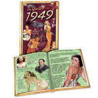 1949 MiniBook: 72st Birthday or Anniversary Gift