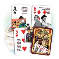 1949 Trivia Challenge Playing Cards: 72th Birthday or Anniversary Gift