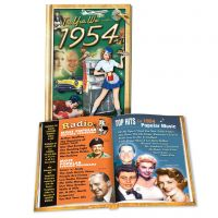 1954 MiniBook: 67th Birthday or Anniversary Gift