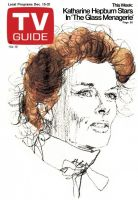 TV Guide, December 15, 1973 - Katharine Hepburn Stars In 'The Glass Menagerie'