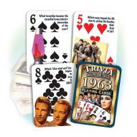 1963 Trivia Challenge Playing Cards: Great 58th Birthday or Anniversary Gift