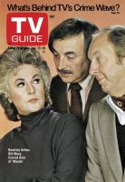 TV Guide, January 12, 1974 - Beatrice Arthur, Bill Marcy, Conrad Bain of 'Maude'