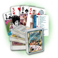 1967 Trivia Challenge Playing Cards: 54nd Birthday or Anniversary Gift