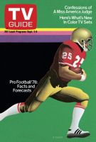 TV Guide,  September 2, 1978 - Pro Football '78: Facts and Forecasts