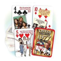 1977 Trivia Challenge Playing Cards: 44nd Birthday or Anniversary Gift