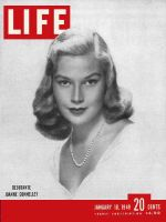 Life Magazine, January 10, 1949 - Debutante season, woman model