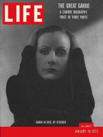 Life Magazine, January 10, 1955 - Greta Garbo