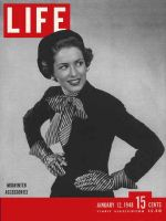 Life Magazine, January 12, 1948 - Midwinter accessories in fashion