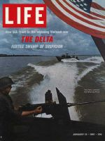 Life Magazine, January 13, 1967 - Navy patrol in Mekong River