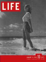 Life Magazine, January 14, 1946 - Resort fashions on beach