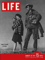 Life Magazine, January 20, 1947 - Man standing with family in field
