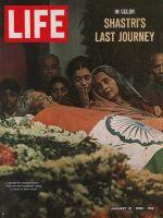 Life Magazine, January 21, 1966 - India's Prime Minister Shastry dies