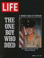 Life Magazine, January 21, 1972 - Single U.S. Vietnam casualty in a week