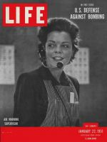 Life Magazine, January 22, 1951 - U.S. air defense, woman