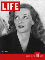 Life Magazine, January 23, 1939 - Bette Davis