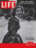 Life Magazine, January 26, 1953 - Fashion stylist Sigrid Soelter