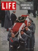 Life Magazine, February 5, 1965 - Churchill's casket