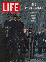 Life Magazine, February 10, 1967 - Gus Grissom's caisson at Arlington