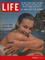 Life Magazine, February 11, 1957 - Woman in Caribbean