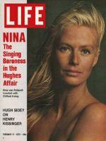 Life Magazine, February 11, 1972 - Singer Nina van Pallandt