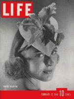 Life Magazine, February 12, 1940 - Floral valentine hat