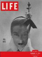 Life Magazine, February 12, 1951 - Hatless hats