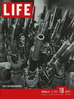 Life Magazine, February 23, 1942 - Brooklyn Navy Yard, guns