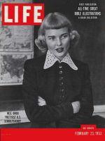 Life Magazine, February 23, 1953 - Blackboard beauty