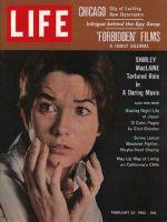 Life Magazine, February 23, 1962 - Shirley Maclaine