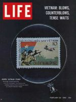 Life Magazine, February 26, 1965 - North Vietnamese postage stamp