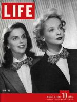 Life Magazine, March 1, 1943 - Women wearing Bow ties