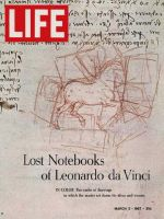 Life Magazine, March 3, 1967 - Leonardo da Vinci sketch