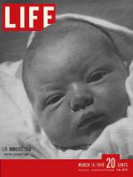 Life Magazine, March 14, 1949 - Baby, Three hours old