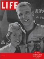 Life Magazine, March 19, 1951 - Navy couple