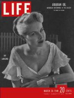 Life Magazine, March 28, 1949 - Actress Joy Lansing