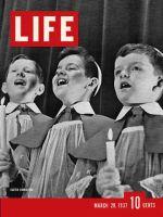 Life Magazine, March 29, 1937 - Three Singing Boys