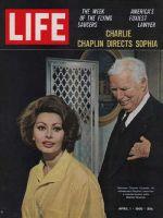 Life Magazine, April 1, 1966 - Sophia Loren and Charlie Chaplin