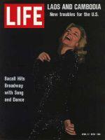 Life Magazine, April 3, 1970 - Lauren Bacall